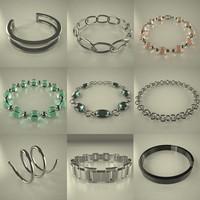 3d model bracelet accessories jewelery