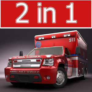 emergency ambulance concept truck 3d model