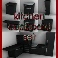 set-dark cupboards