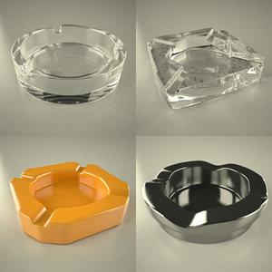 3d ashtray ash tray model