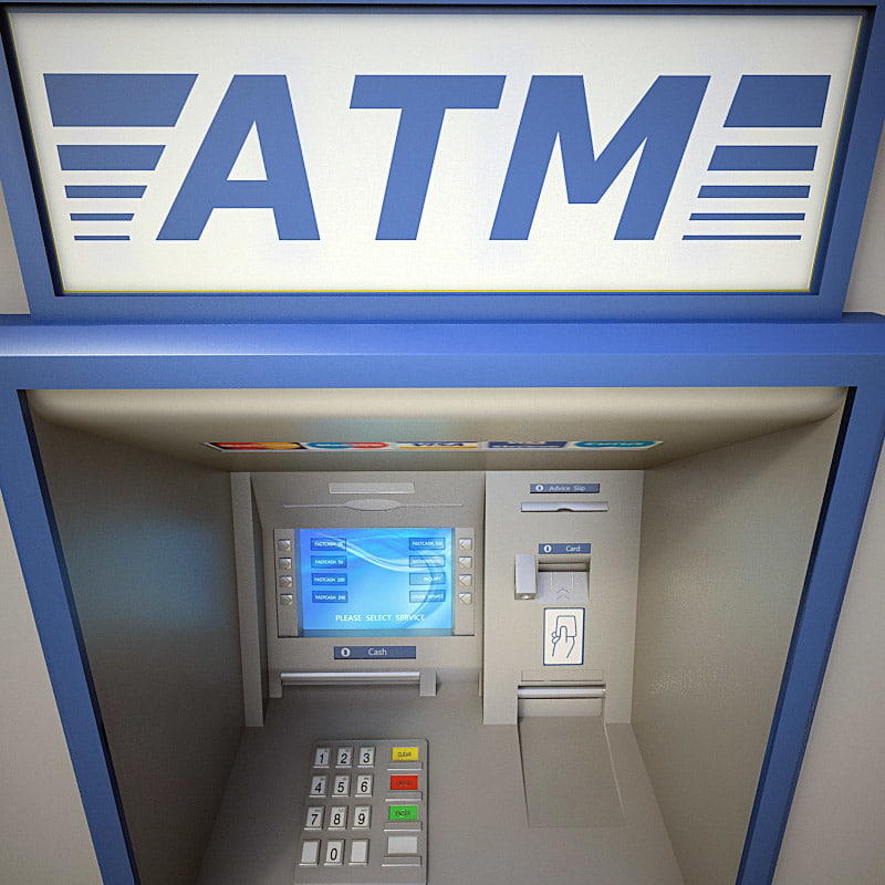 3ds max cash machine atm
