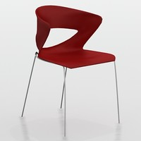 modern stacking chair kicca 3d model