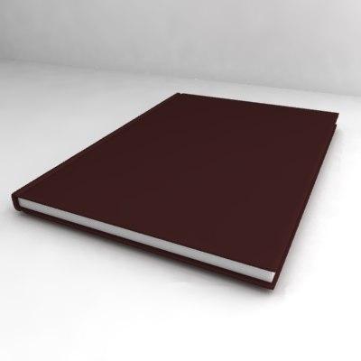 3d model book formats