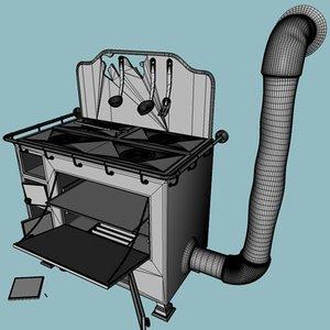 3d old cooker model