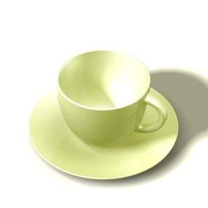 teacup saucer 3d model