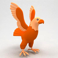 3d model eagle cartoon