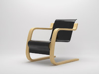 3d model easy chair alvar aalto