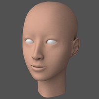 3d model female head asian idol