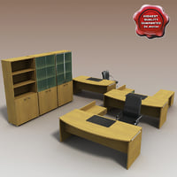 3d model office furniture interior