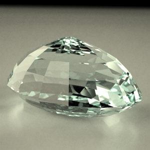gemstone oval cut 3d model