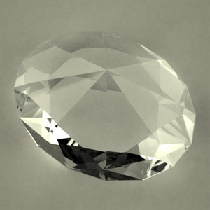 gemstone oval brilliant 3d model