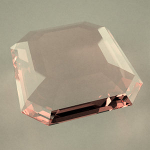 3d model gemstone emerald cut