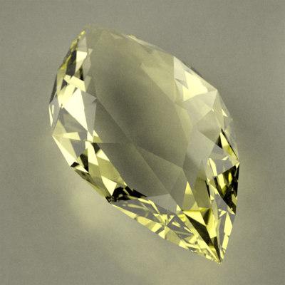 gemstone marquise cut 3d dxf