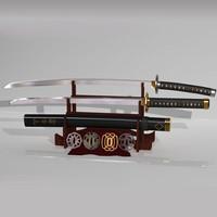 3d japanese sword - katana model