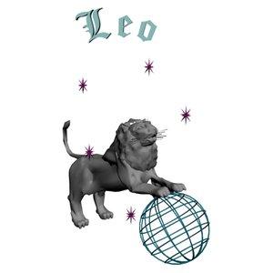 3d model leo zodiac