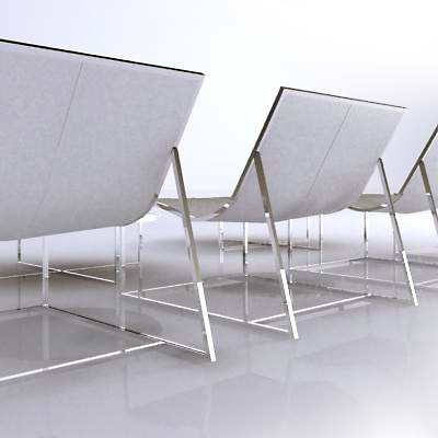 3d holy day chair table model