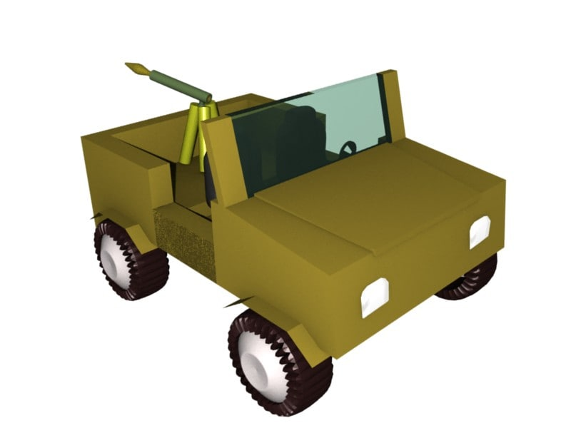 free 3ds model military vehicle