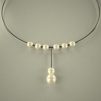 neck necklace 3d 3ds