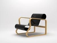 3d paimio alvar aalto chair designer