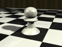 3dsmax chess pawn