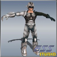 3d max sci fi male character