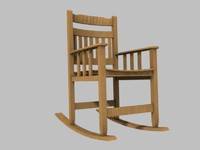 3d model wood rocking chair