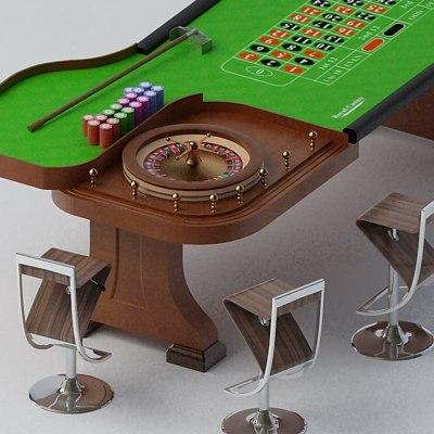 3dsmax roulette table