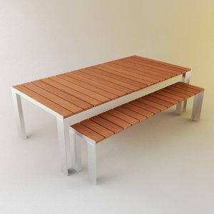 deneb bench - 3d model