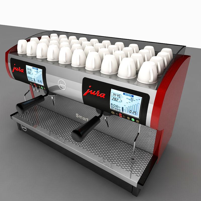 3ds max commercial espresso machine