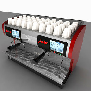 3ds max commercial espresso machine
