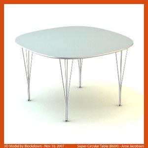 3d arne jacobsen table