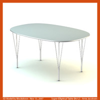 arne jacobsen table 3d max