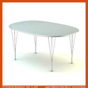 arne jacobsen table 3d max