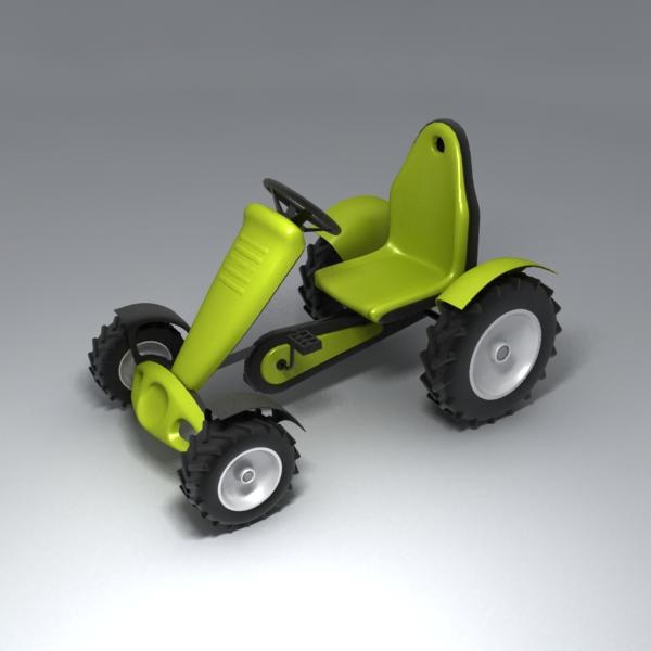 3d carting tractor car