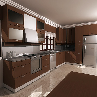 3d model kitchen for Model kitchen images
