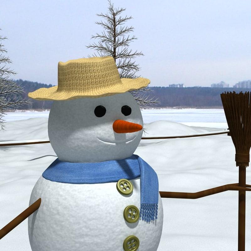 snowman snow 3d max
