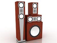speaker set 3d model