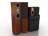 3dsmax speaker set
