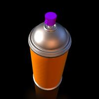 spraycan 3d 3ds