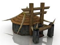 3d tent games model