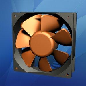 120mm computer cooling fan 3d max