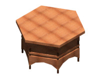 autocad coffee table wickerwork 3d model