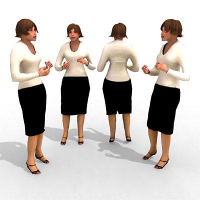 - business female 3d model