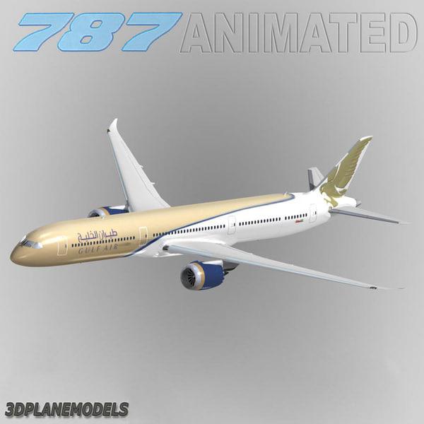 3d model b787-10 gulf air 787-10