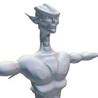 3d alien creature model