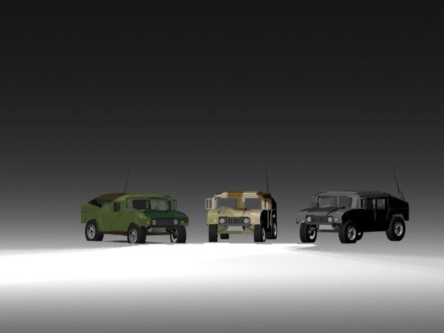 free humvees 3d model