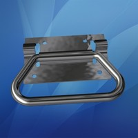 Chrome Chest Handle and Bracket