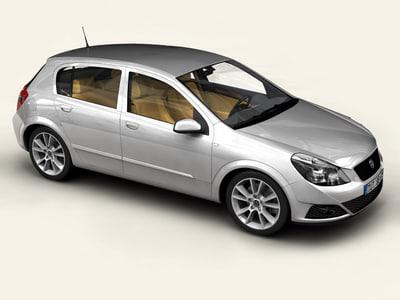 generic car compact class interior 3d max