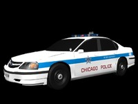 3d chevy impala chicago police car