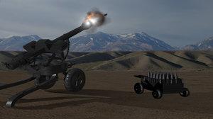 cannon m119 3d model